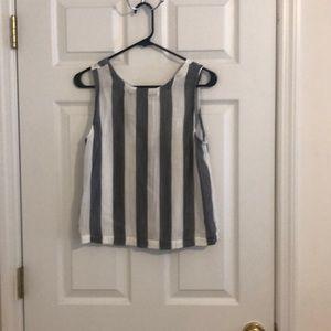 Striped top.